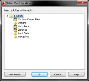 Autocad File location penceresi