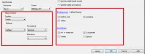 Autocad Plant 2015 extention 1 default settings