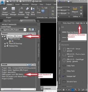 Proje Standardı ile Tools Palette Standardının karşılaştırılması
