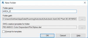 Autocad Plant 3d Create Folder Dialog