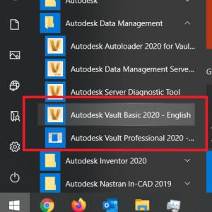 Autodesk Vault İkon on Windows Start