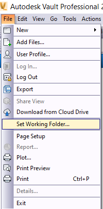 Set Working Folder